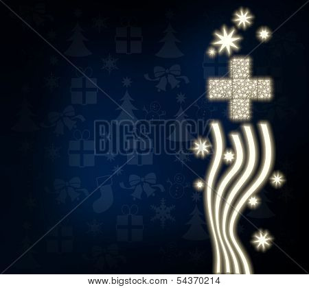 A Cross Design With Stars