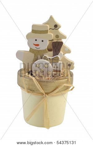 Snowman In The Pot