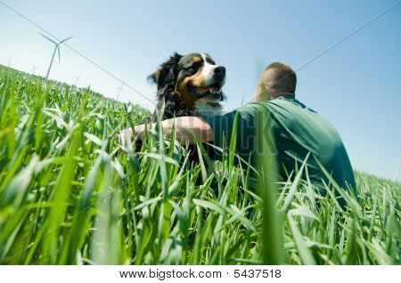 Man With A Happy Dog