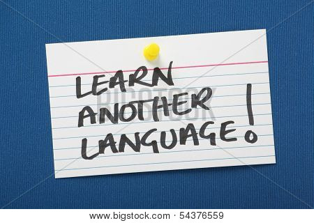 Learn Another Language!
