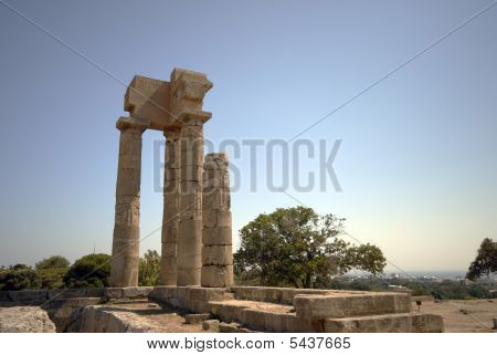 Acropolis With Temple Of Apollo