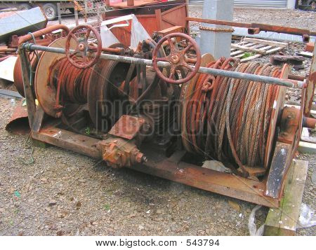 Old Trawling Winch