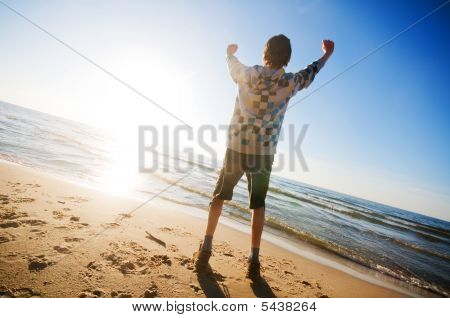 Happiness In The Beach Scenery