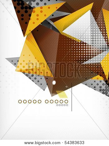 Geometric shape triangle abstract background