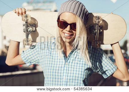 Happy Skater Girl