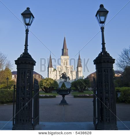 St. Louis Cathedral And Jackson Square, New Orleans