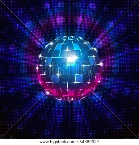 Fluorescent disco ball