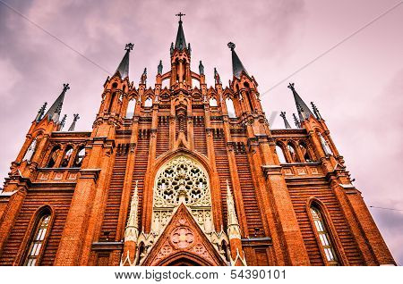 Cathedral of Immaculate Conception,  Moscow.