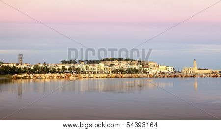 A view of Rethymnon city, Crete, Greece, shortly after dawn