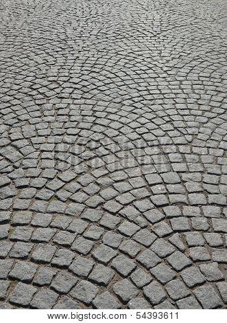 Cobblestone Pavement.