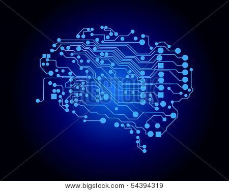 Human brain, logical thinking, vector