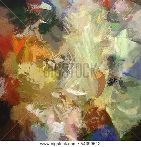 art abstract acrylic  background with colorful blots
