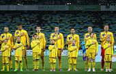 Ukraine National Football Team Players Listen The National Anthems