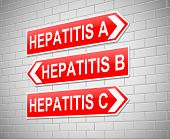 image of hepatitis  - Illustration depicting a sign with a Hepatitis concept - JPG
