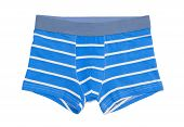 stock photo of boxer briefs  - Boxer shorts isolated on the white background - JPG