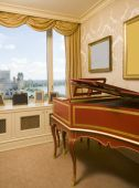 Harpsichord In Penthouse Bedroom With River View   New York City poster