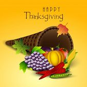 image of brinjal  - Happy Thanksgiving Day celebration concept with fruits - JPG