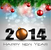 2014 New Year Colorful Background for your  Party invitations.