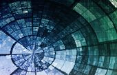 stock photo of informatics  - Artificial Intelligence AI Neural Network Logic Art - JPG
