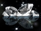 image of refraction  - luxury diamond background - JPG