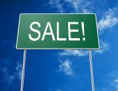 Постер, плакат: Дороги знак распродажа