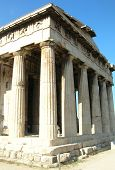 stock photo of greek-architecture  - ancient greek temple, nearby acropolis, in athens - greece.