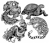 picture of tigers  - dragon - JPG