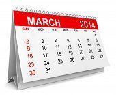stock photo of calendar 2014  - 2014 Calendar - JPG