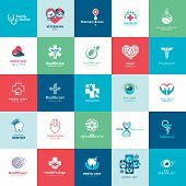 stock photo of veterinary  - Set of icons for medicine - JPG