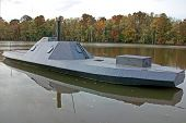 stock photo of ironclad  - a replica of the Civil War ironclad - JPG
