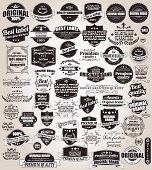 image of calligraphy  - Set of vintage retro labels - JPG