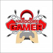Hardcore Gamer T Shirt Design Vector