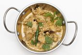 stock photo of kadai  - Homemade balti chicken pasanda - JPG
