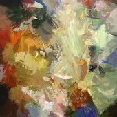 pic of acrylic painting  - art abstract acrylic  background with colorful blots - JPG