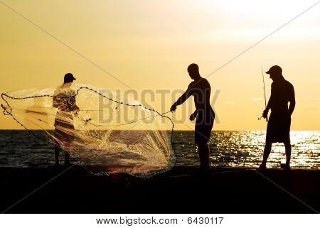 drei Männer Angeln