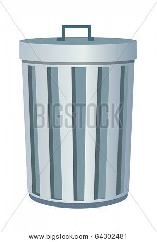 vector icon trash can