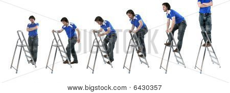 Man At Step-ladders