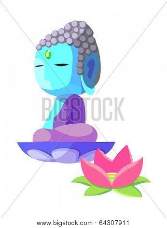 vector icon buddha