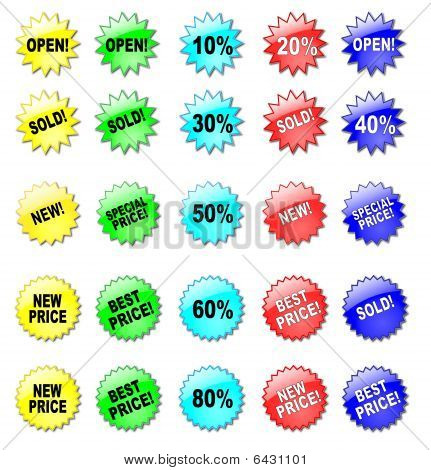 Colorful Stars For Discount Prices