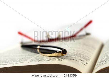 Fountain-pen On The Book