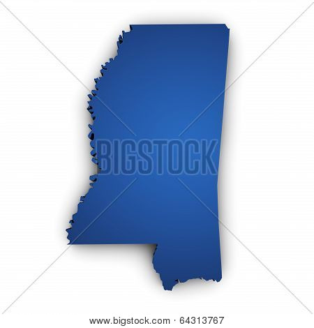 Map Of Mississippi 3D Shape