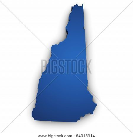 Map Of New Hampshire State 3D Shape
