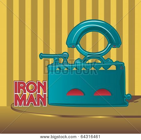 Retro smoothing iron poster design