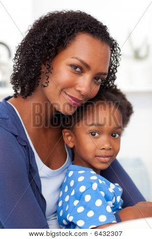 Portrait Of A Beautiful Mother And Her Daughter
