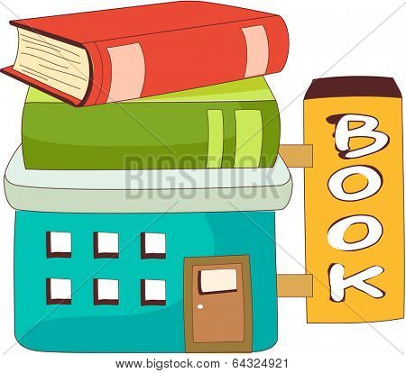 A vector illustration of bookshop