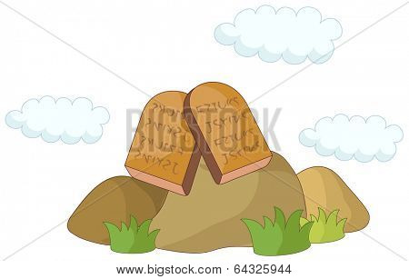 A vector illustration of ten commandments