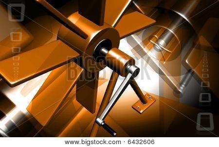 Machine with blade