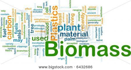 Biomass Material Background Concept