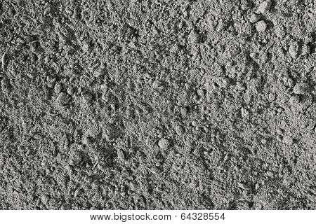 The Crushed Earth Of Black Color