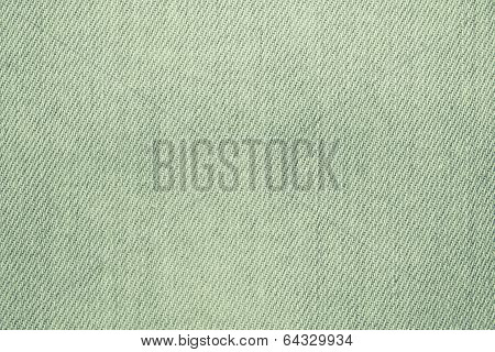 The Green Painted Texture Of Denim